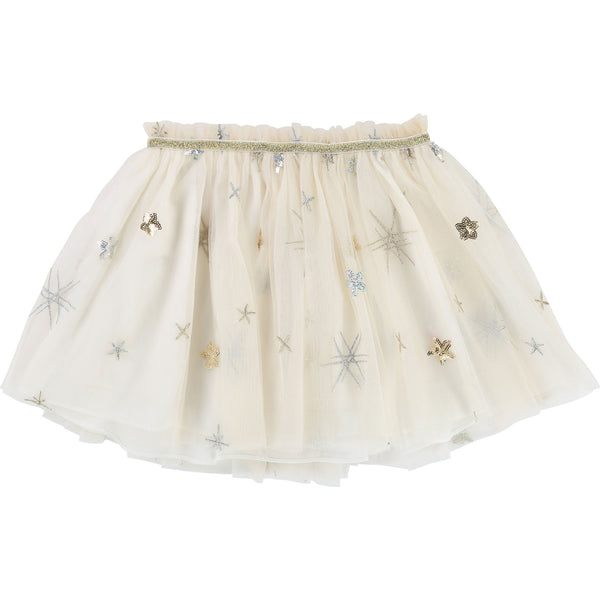 U13193 Skirt - Cream & Gold