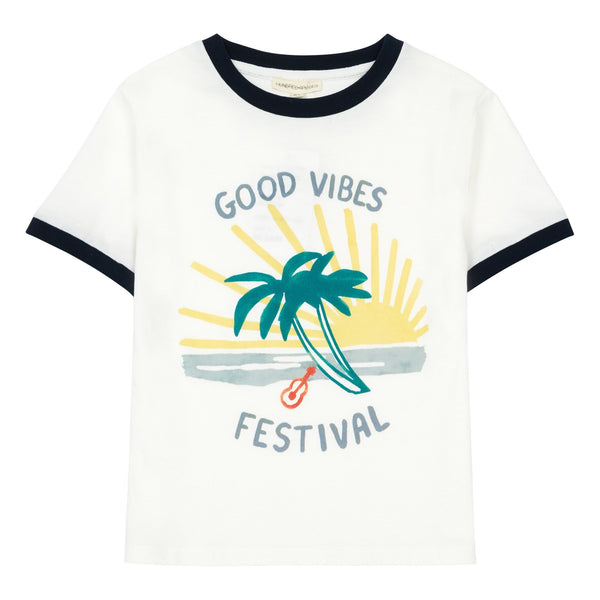 Hundred Pieces - Good Vibes T-shirt Hvid