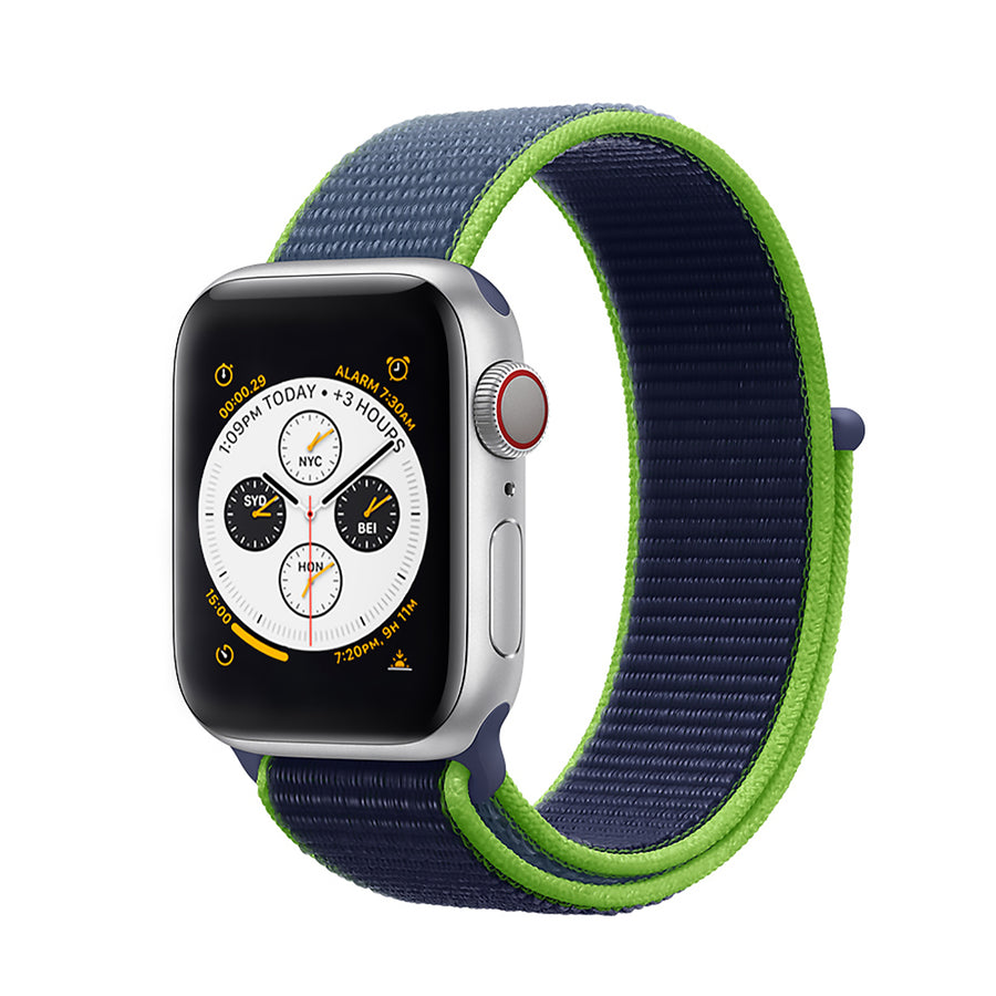 Apple Watch Band, multi-colors, Woven Nylon Scratch - Fall-Winter 2020/21