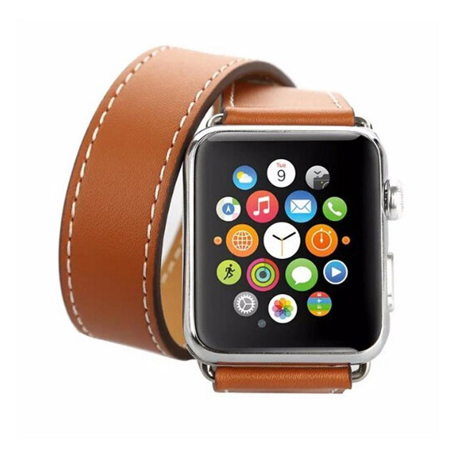 Apple Watch Band, leather double tour, One or Two colors
