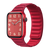 Band for Apple Watch, Magnetic Milanese Leather Clasp-Less, Red