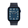 Band for Apple Watch, Milanese Leather, Deep Night Blue