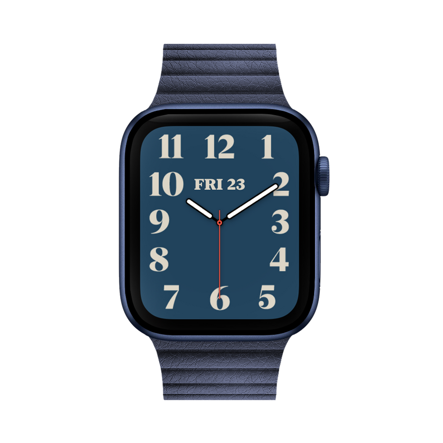Band for Apple Watch, Milanese Leather, Midnight Blue