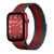 Band for Apple Watch, Milanese Loop Band, Black-Red Stripe