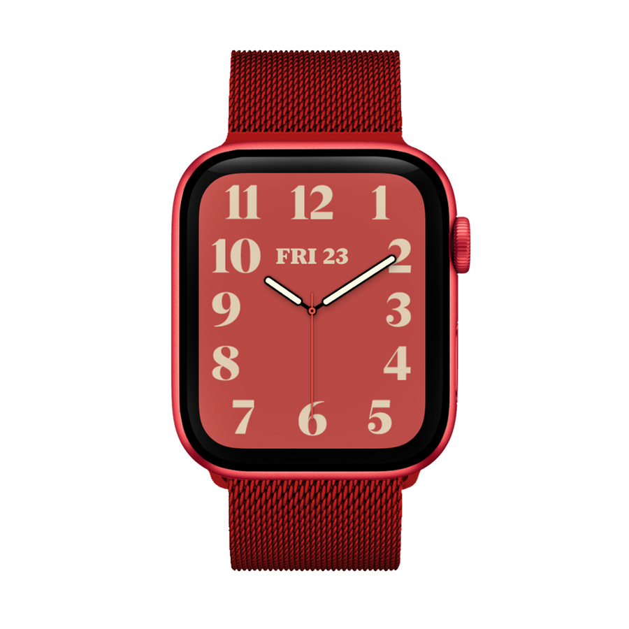 Band for Apple Watch, Milanese Loop Band, Red
