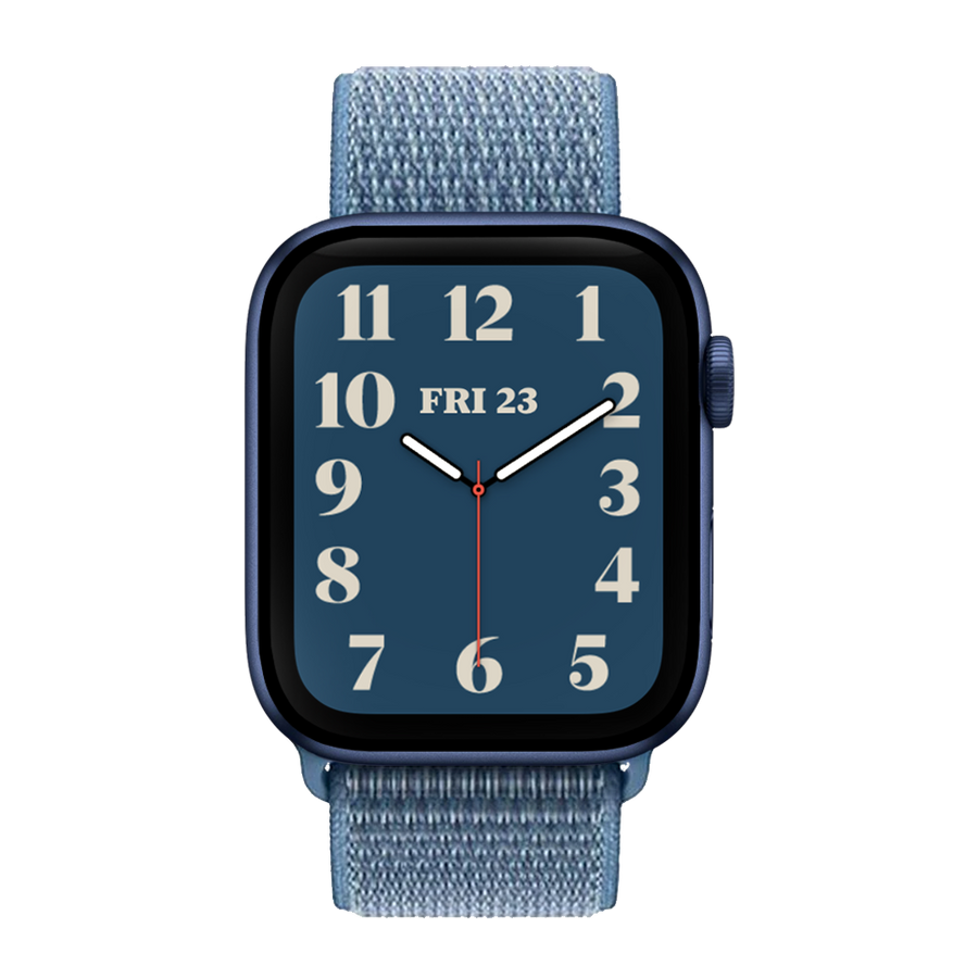 Band for Apple Watch, Woven Nylon Scratch, Blue