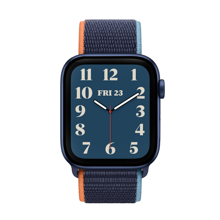 Band for Apple Watch, Woven Nylon Scratch, Deep Night Blue