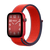 Band for Apple Watch, Woven Nylon Scratch, French Red