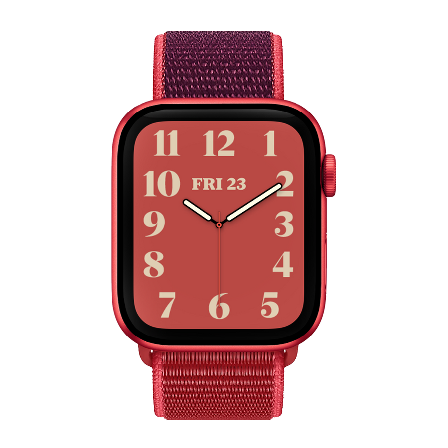 Band for Apple Watch, Woven Nylon Scratch, Red & Dark Red