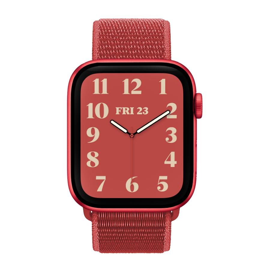 Band for Apple Watch, Woven Nylon Scratch, Red