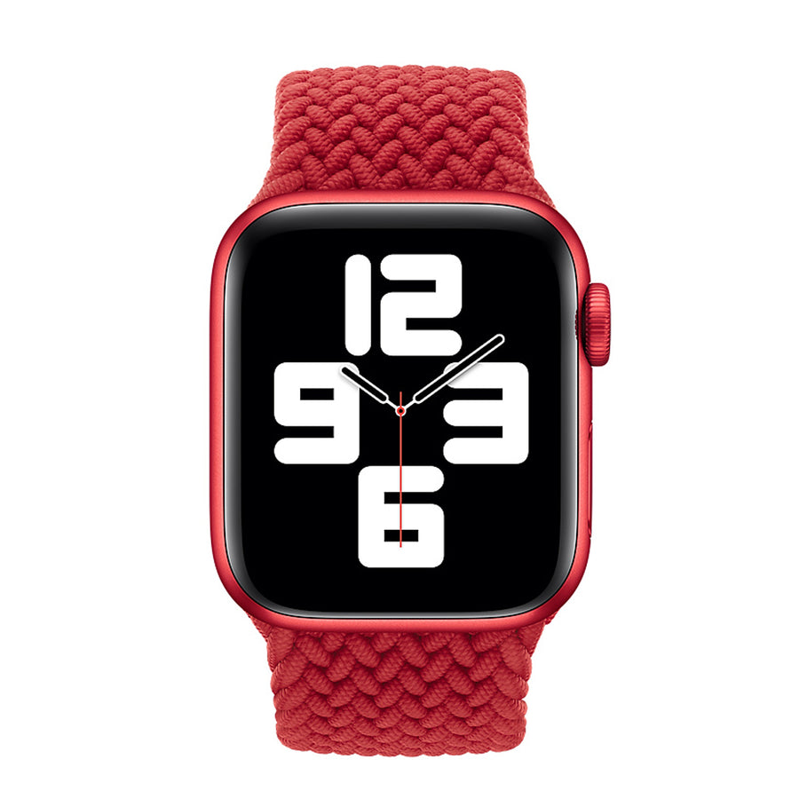 Band for Apple Watch, Nylon Braided Loop, Red