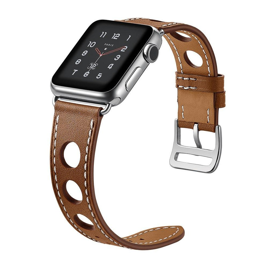 "Apple Watch Band - Leather ""Design with Large Holes"""