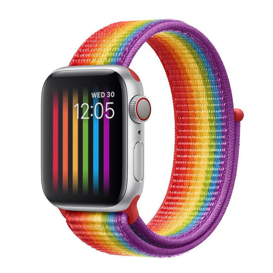 Apple Watch Band, multi-colors, Woven Nylon Scratch - New Colors