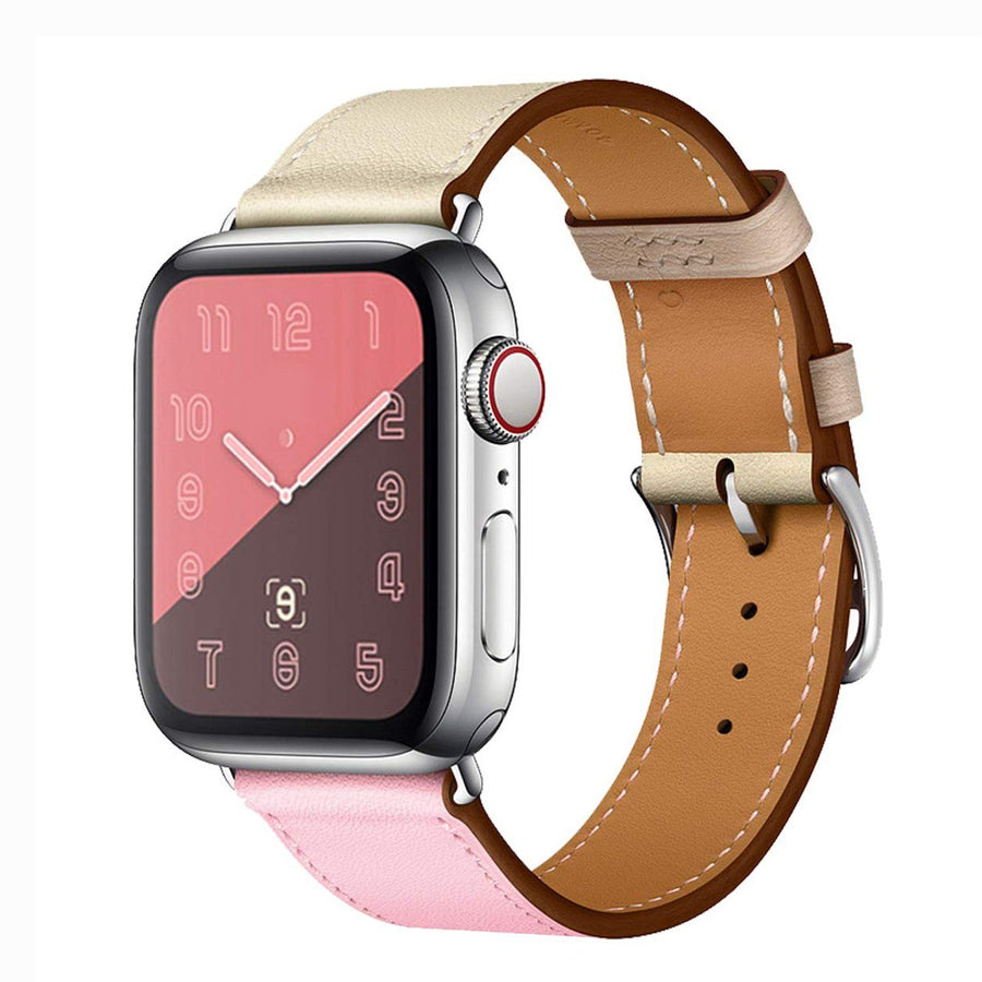 Apple Watch Band, Leather Style Two Colors. Summer 19