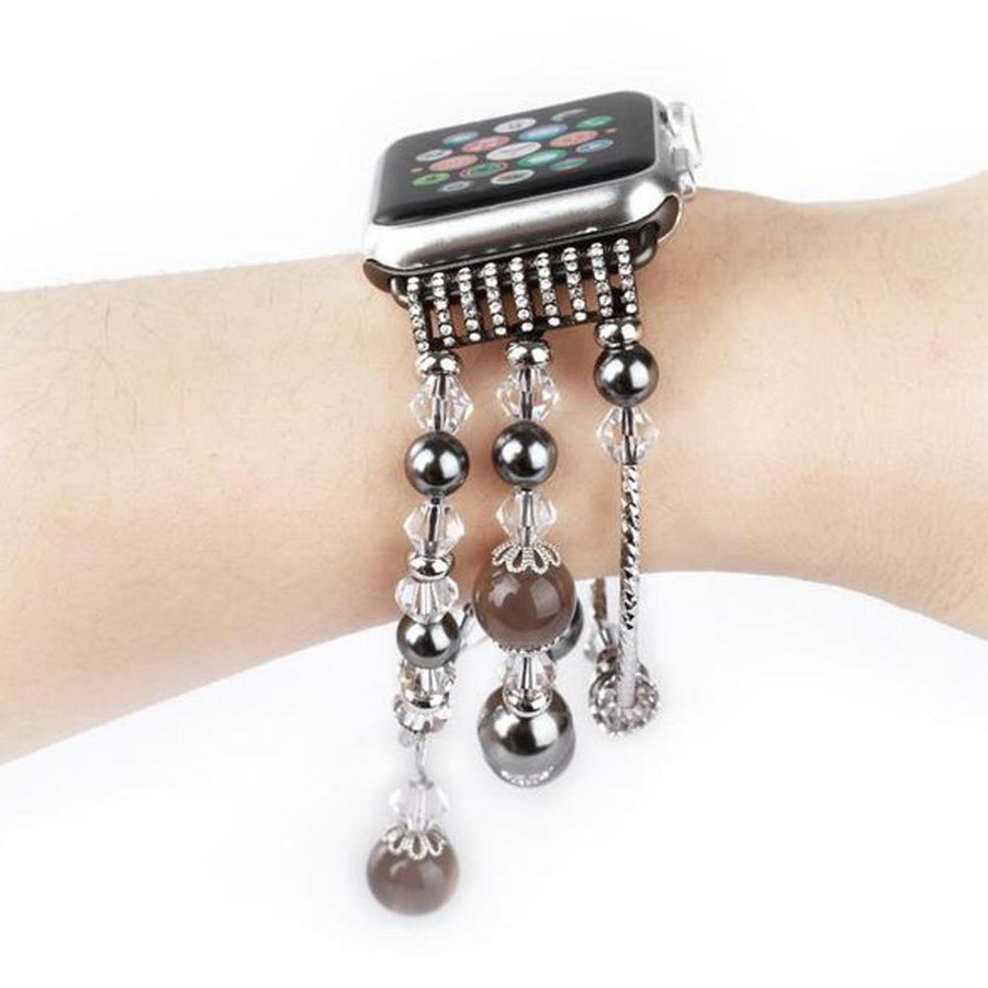 Apple Watch Band, multi-strand stretch cord, beads, fancy.