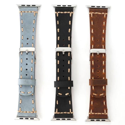 Apple Watch Band leather vintage with stitches