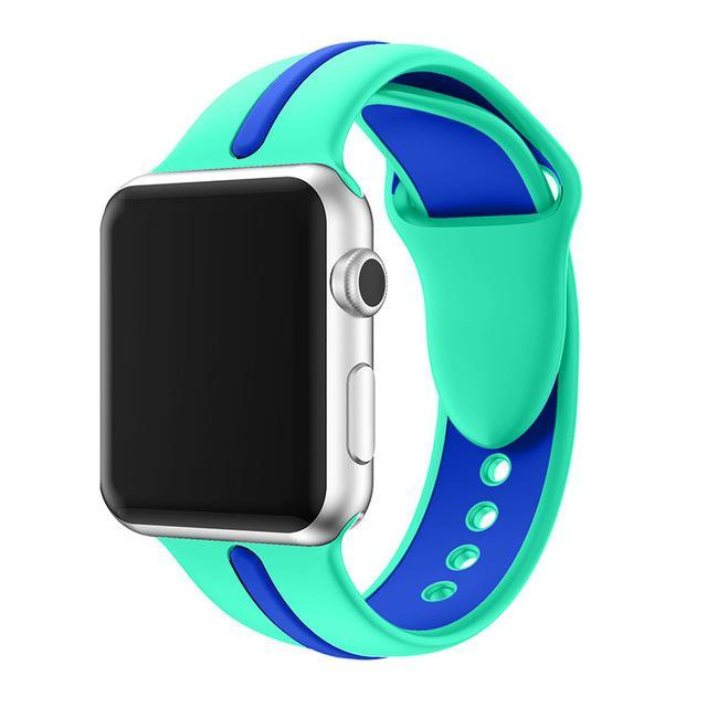 Apple Watch Band, sport, silicone, duo-colors