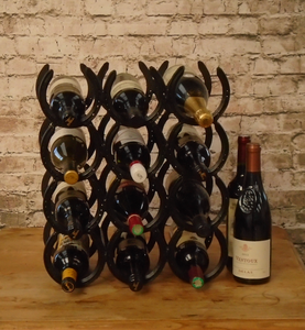 Horseshoe Wine Rack 12 Bottles All About Grace Gifts