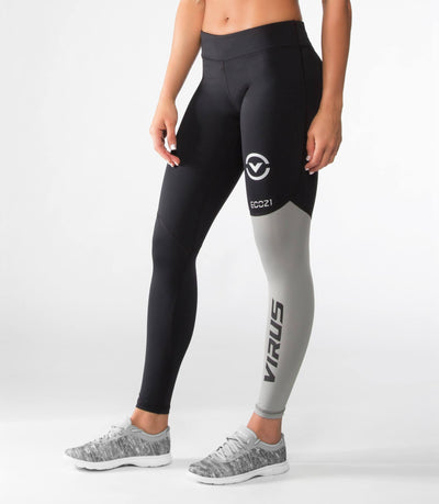 VIRUS WOMEN'S STAY COOL V2 COMPRESSION PANT (ECO21) BLACK/SILVER