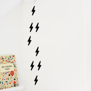 Mini Lightening Bolt wall stickers