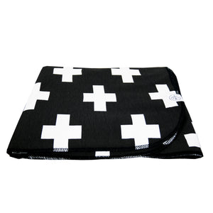 White Cross baby blanket