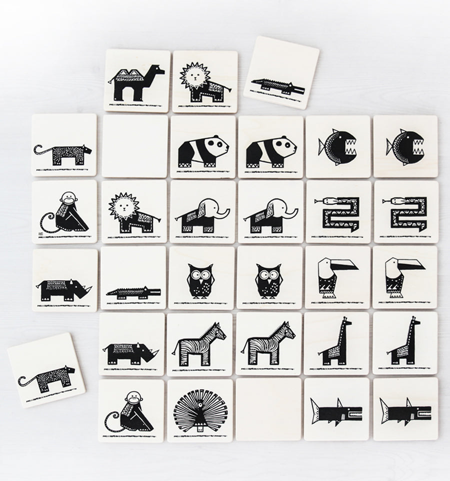Black & White memory game