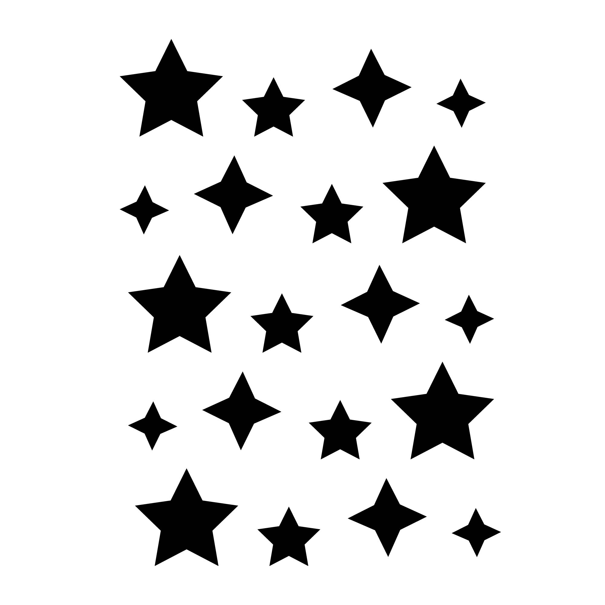 Mini Star wall stickers