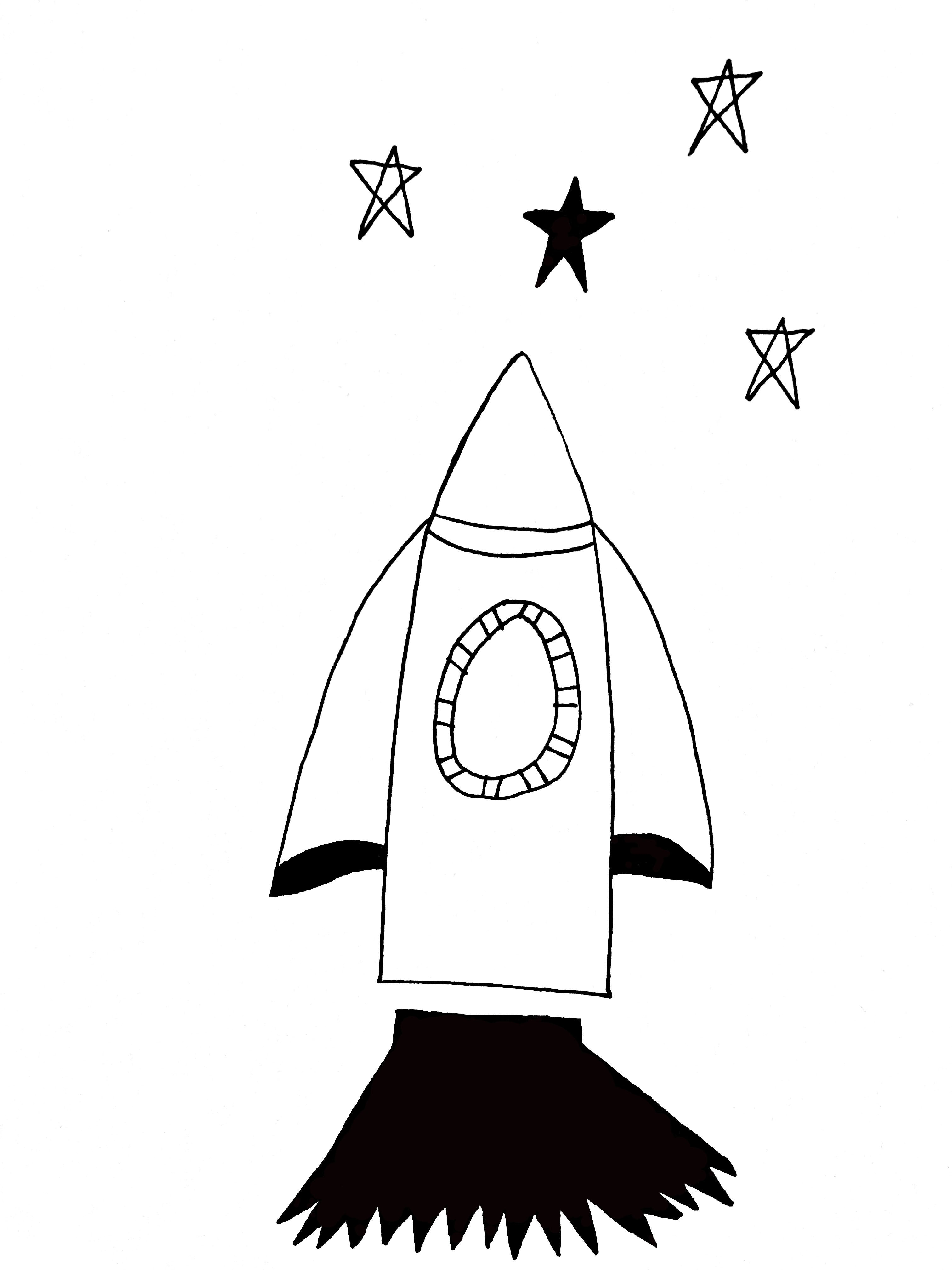 Rocket & Stars wall stickers