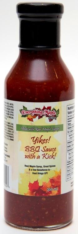 Yikes! Maple Barbeque Sauce with a Kick!
