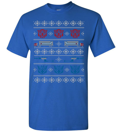 Xmas In Disguise Ugly Christmas Sweater Robot Transformers Papatee