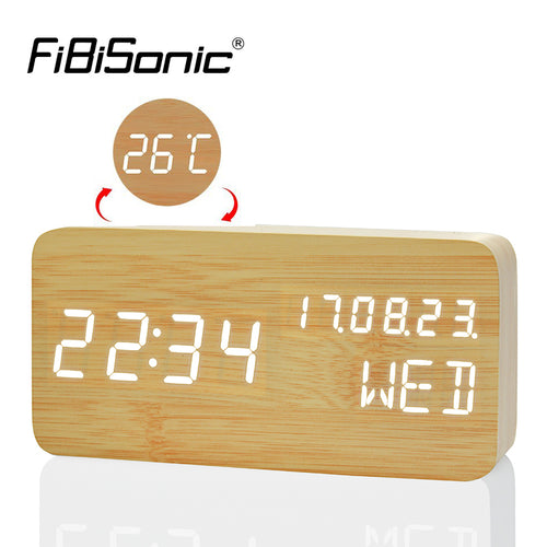 Digital LED Alarm Clock and Temperature with Sound Voice Control