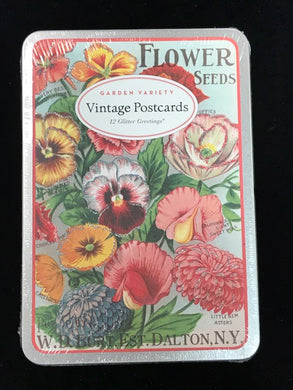 Vintage Flower Post Cards