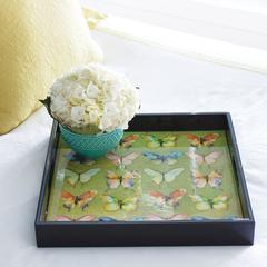 "Butterflies 15"" Square Serving Tray"