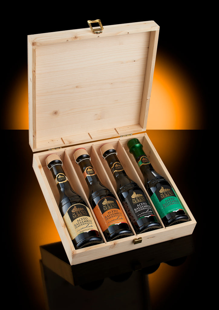 tasting case balsamic vinegar