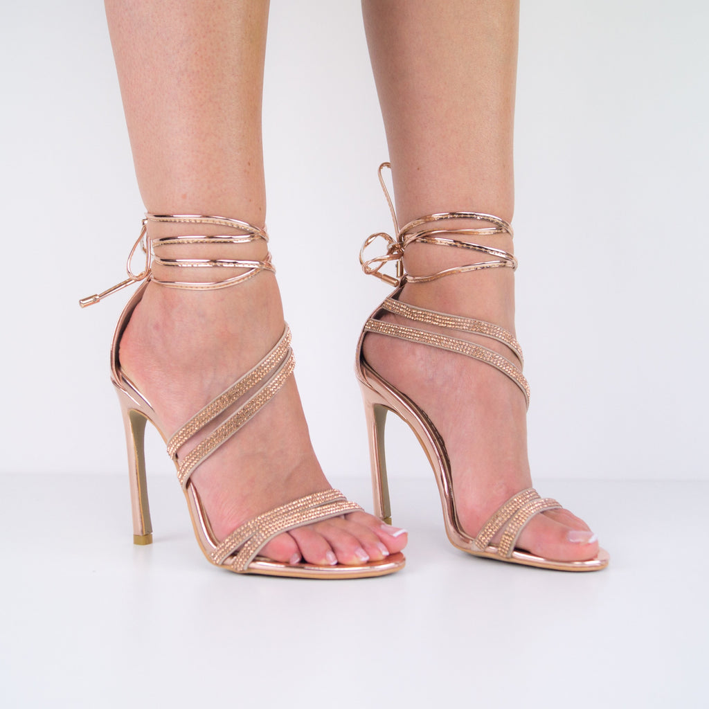 Christy - Stiletto heel Sandal with lace-up