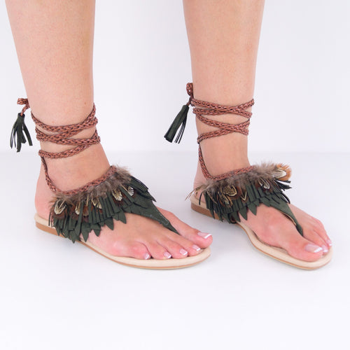 AUDREY Lace up Summer Sandals