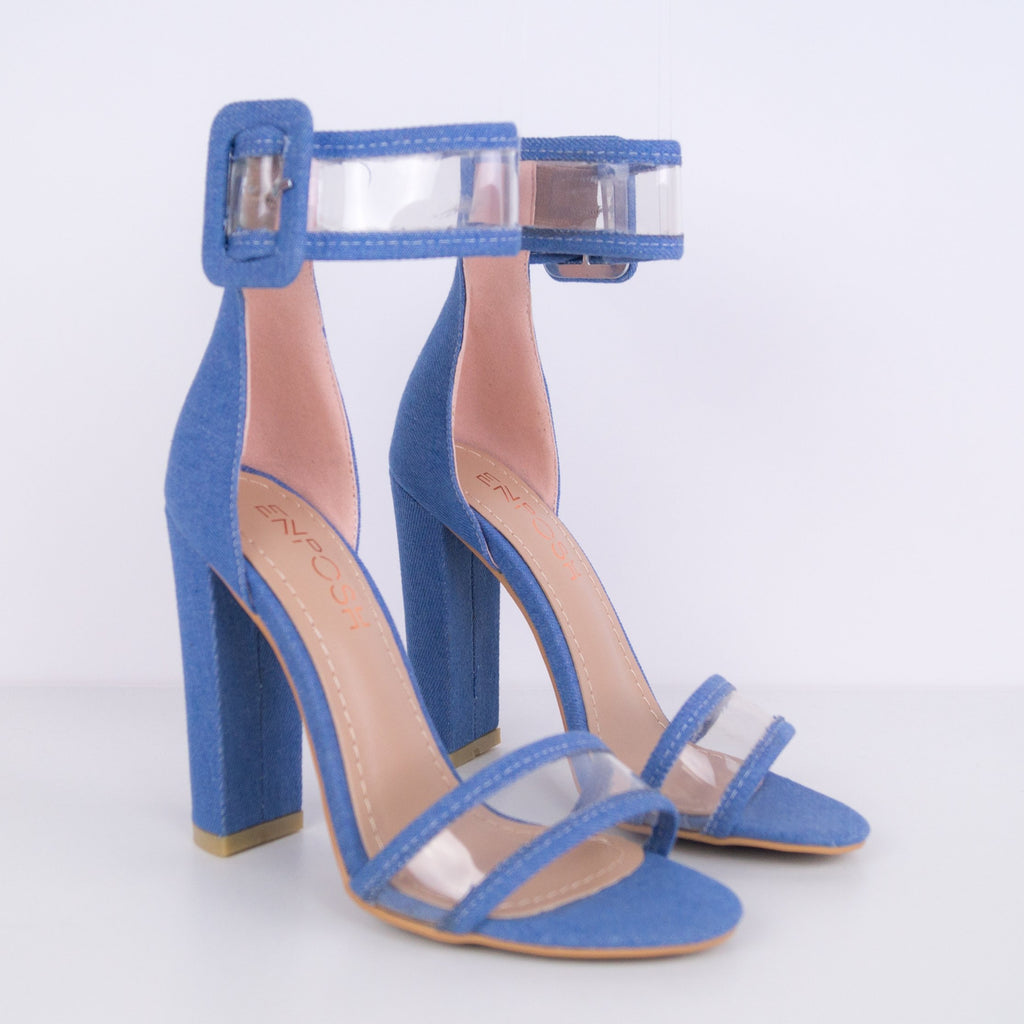 Diana - Sandal with chunky heel and double strap