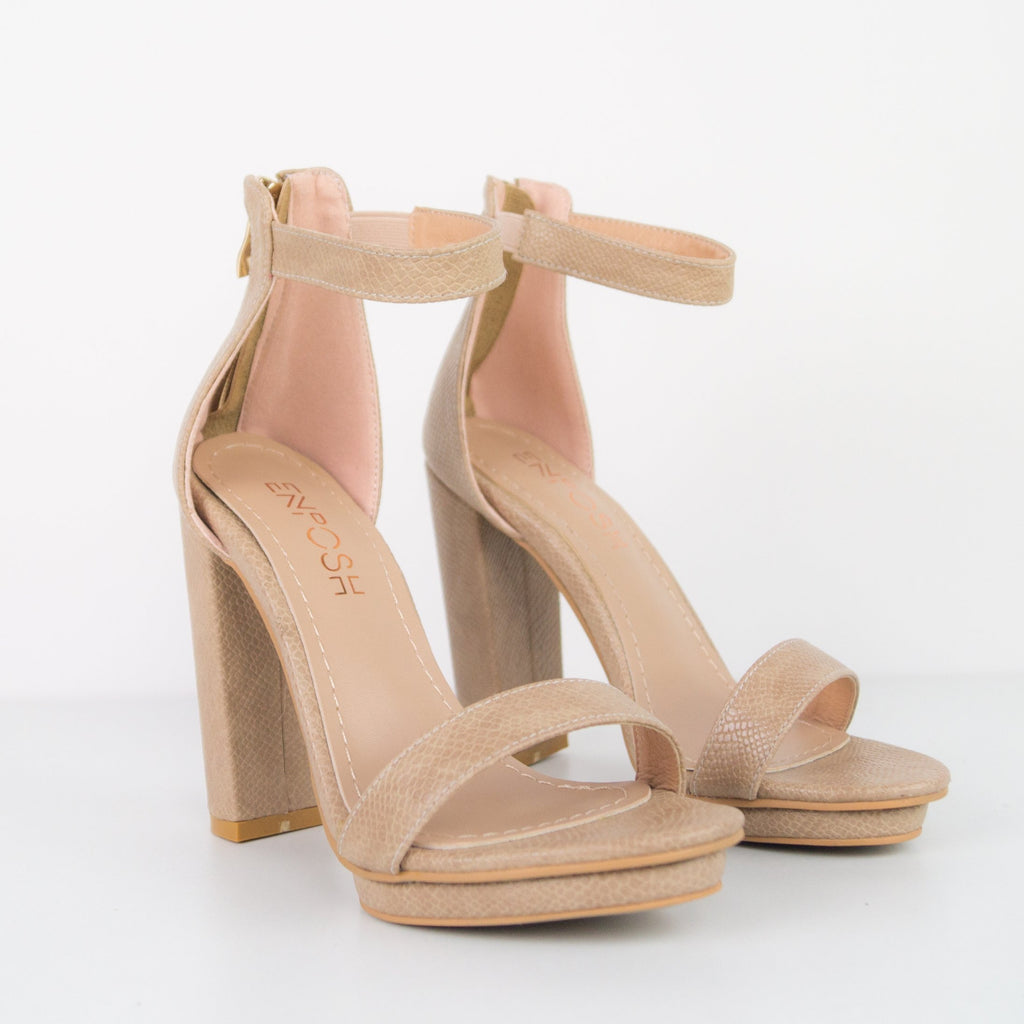 Judy - Block heel sandal and ankle bracelet