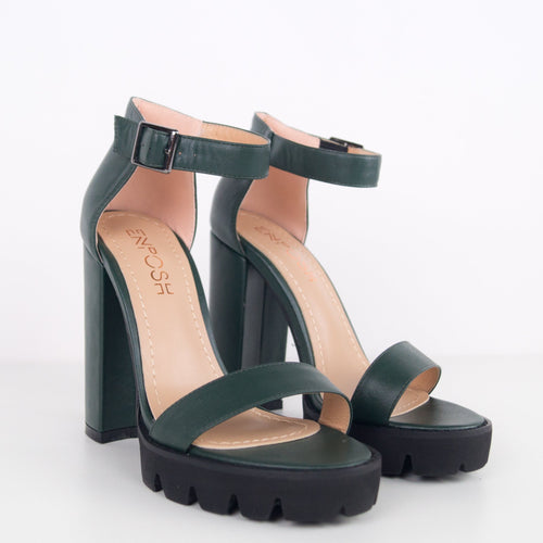 SALLY - Sandal with block heel and plateau
