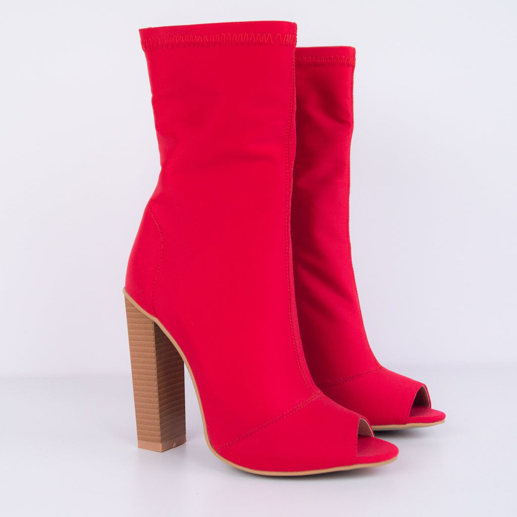 Kylee -  Ankle boot with cubic wooden heel