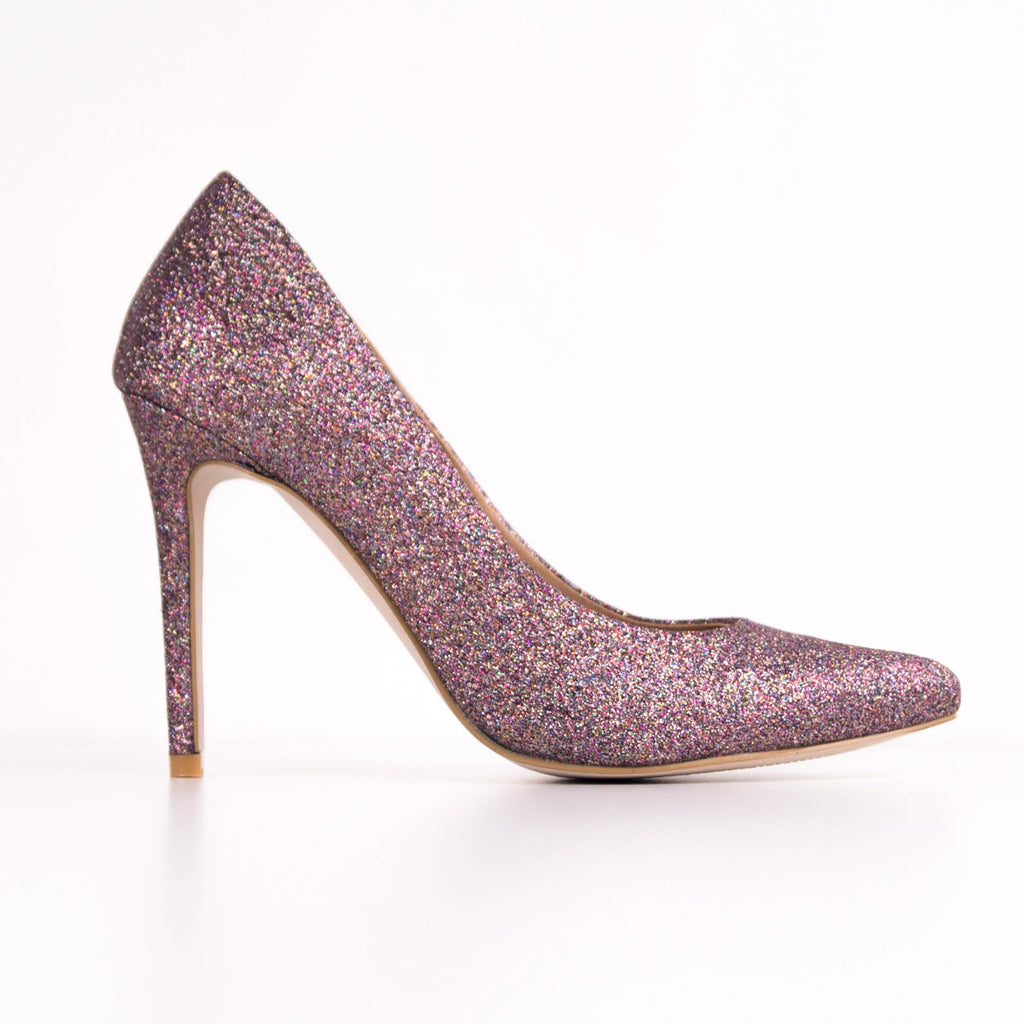 KANDY -  Glitter Stiletto Court Heels
