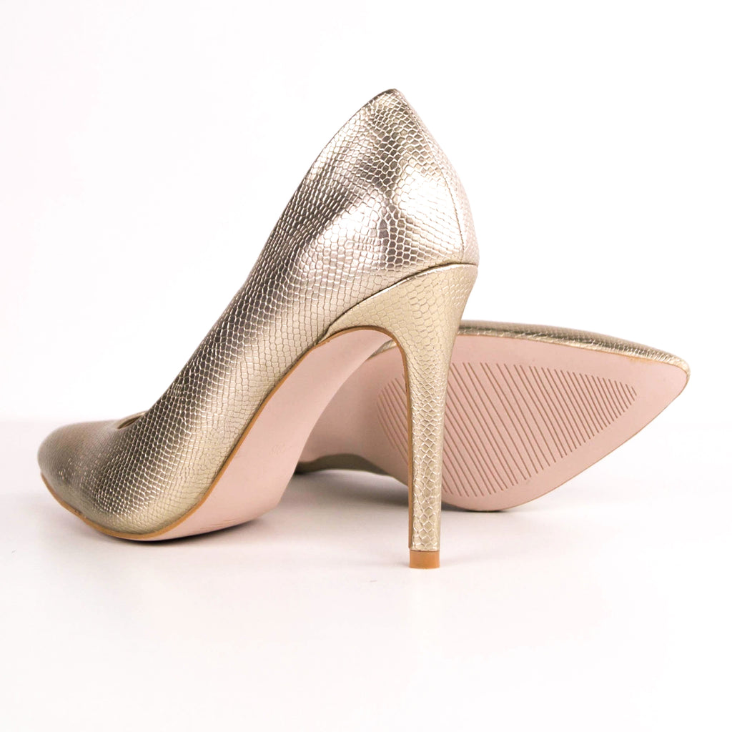 Amy -  Snake Stiletto Court Heels