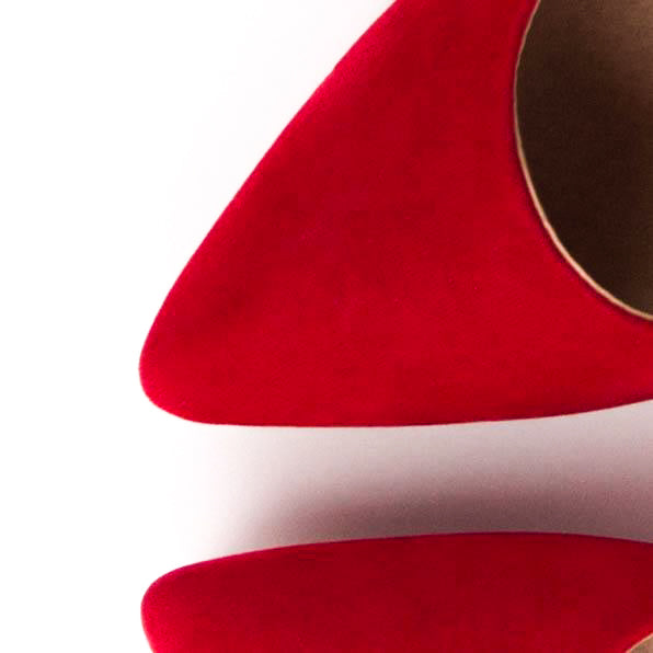 Ruby - Faux Suede Stiletto Court Heels
