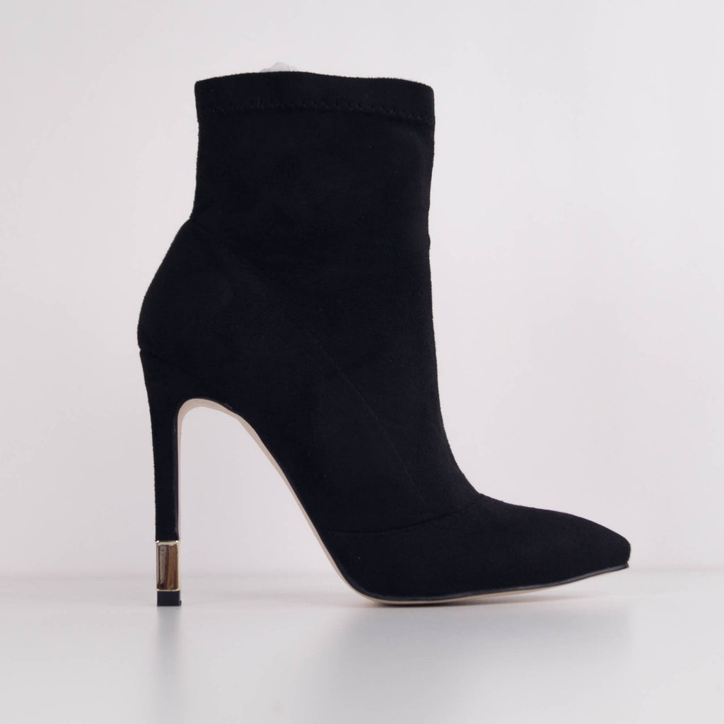 IZZY -  Faux Suede Stiletto Heel Ankle Boot
