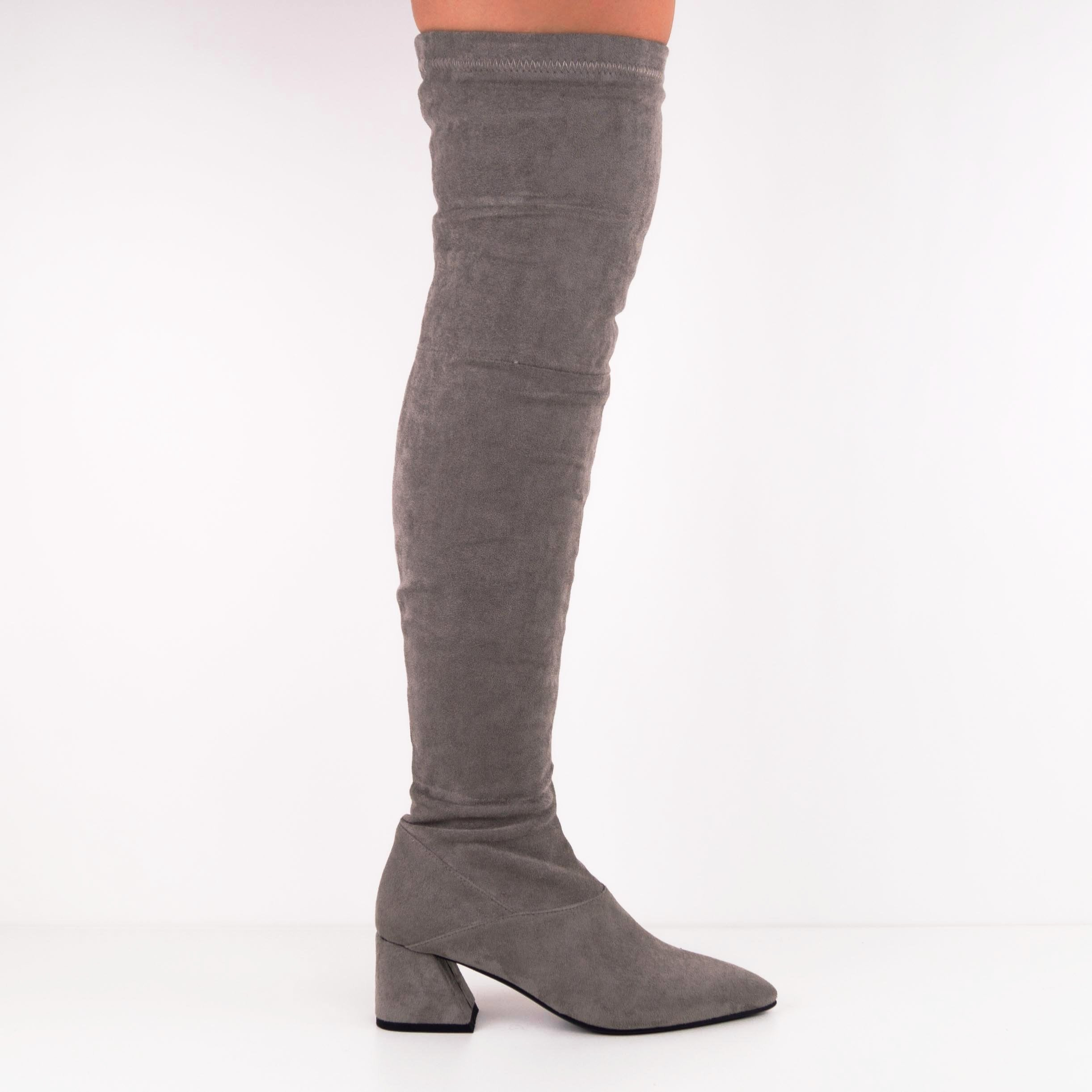 FAITH Suede Over-the-knee Boots with