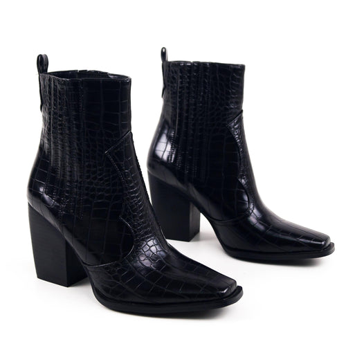 Frixy - Western Ankle Boots squared point