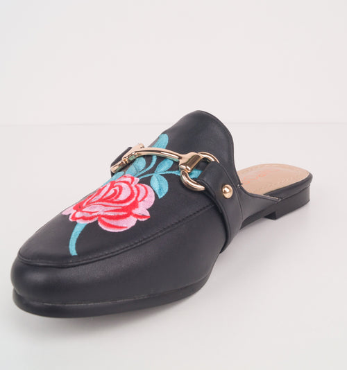 DEYSI - Floral Embroidered Mules