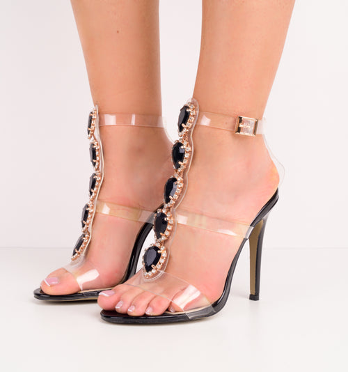 Glory Clear Gem Stiletto Heels