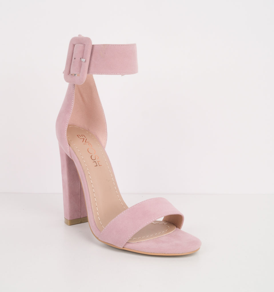Marylin Ankle Strap Block Heels 11cm