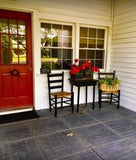 Olde Century Historic Colors Confederate Red Front Door and Lamp Black Chairs